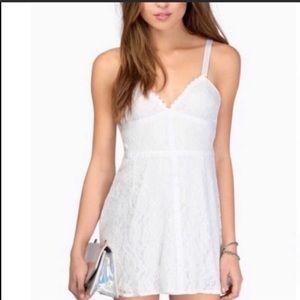 Tobi White Lace Mini Dress
